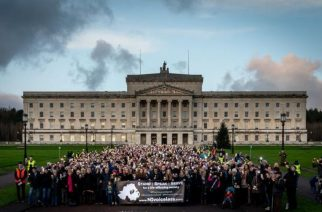 Thousands protest radical new abortion laws in Northern Ireland