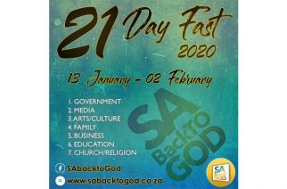 Invitation to join 21-day fast for SA