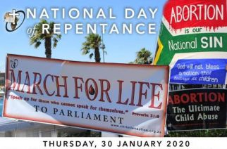 March for Life in Cape Town on January 30 to protest 'abortion holocaust'
