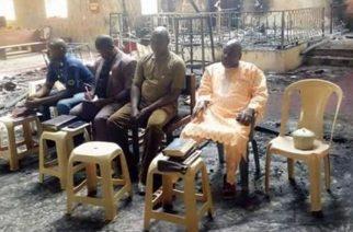 Terrorists destroyed building but church still gathers