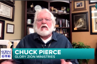 Prophet Chuck Pierce in interview with CBN News (PHOTO: CBN News).
