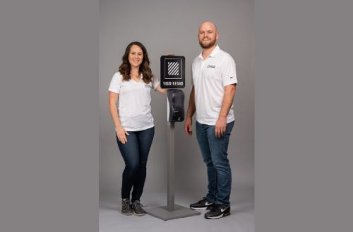 Christian couple Alex and Kelsey Carrol pivot their business to help prep churches, businesses reopen safely, May 2020 (PHOTO: The Christian Post/130 Agency)