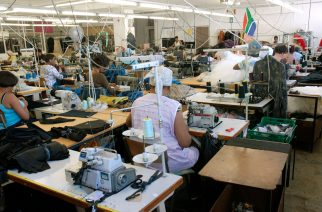 Factory floor of fashion design label in Cape Town city centre (PHOTO: Brand South Africa/Rodger Bosch)