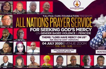All-nations prayer gathering calls out to God over gender-based violence and femicide
