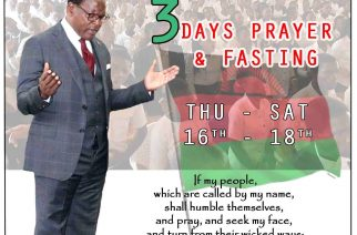 Malawi's Christian president calls for three days of prayer, fasting to fight pandemic