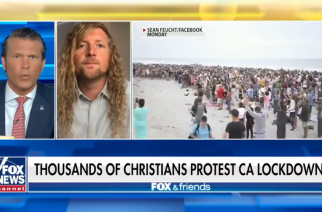 Leader of California outdoor worship movement calls out state leaders' lockdown hypocrisy