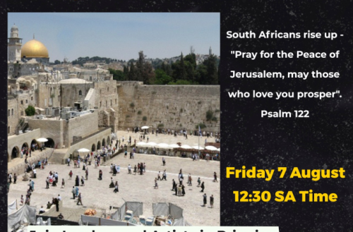 Global hit song from SA inspires virtual 'prayers for Jerusalem' event
