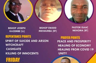 Spirit of suicide will be targeted at repentance and prayer day in Malawi